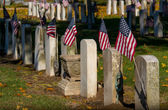 Vintage tombstones honor soldiers from the past — Stock Photo