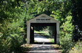 Rush creek Covered bridge in southern indiana — Stock Photo