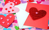 Hearts in pink and red — Stock Photo