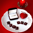 Marriage proposal , wedding and love concept — Stock Photo #40572237