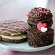 Decadent pastries for valentines day — Stock Photo #40572475