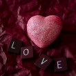 Stock Photo: Pink heart and love