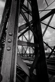 Black and white steel bridge — Stock Photo