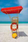 Vibrant beach chair — Stock Photo