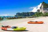 Kayak at sea — Stock Photo