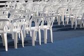 Vit plast stol — Stockfoto