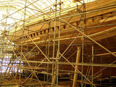 Restoration of the schooner Bluenose — Stock Photo