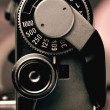 Old Film Camera detail of the Trigger and Shutter Speed Control — Stock Photo