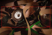 2:35 film texture and ration for cinema — Stock Photo