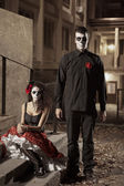 Dia de los Muerto Costume - Day of the dead — Stock Photo