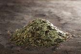 Eucalyptus Tea Tea on a metal texture — Стоковое фото