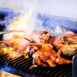 Stock Photo: Portuguese Chicken on Grill
