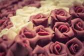 Vintage wedding cake. Sweet symbol of love. — Stock Photo