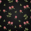 Seamless peony flower pattern on an dark background — Stock Photo #34672583