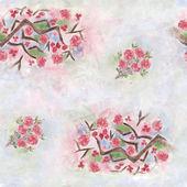 Seamless sakura flower pattern — Stock Photo