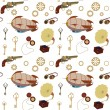 Seamless steampunk retro pattern — Stock Photo
