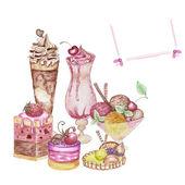 Dessert set — Stock Photo