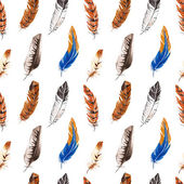 Seamless pattern with feather — Stock Photo