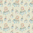 ストック写真: Seamless pattern with Dreamcatcher