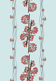 Seamless pattern with rowan — Stock Photo