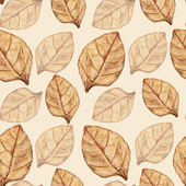 Seamless pattern with tobacco leaf — Stock Photo