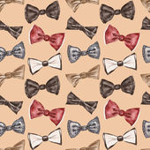 Seamless pattern with bow tie — Stock Photo