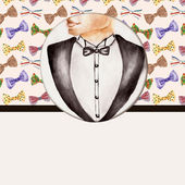 Fashion background with bow tie, gentleman — Stock Photo