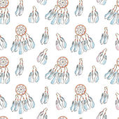 Seamless pattern with Dreamcatcher — Stock Photo