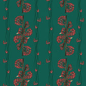 Seamless pattern with rowan — Stock Photo
