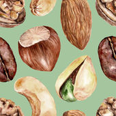 Seamless pattern with nuts — Stock Photo