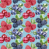 Seamless pattern with berry — 图库照片