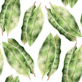 Seamless pattern with bay leaf — Stock Photo