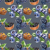 Seamless pattern with berry — Stock Photo