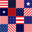 Patchwork of american flag — Stock Vector #31242089