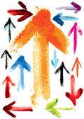 Set of watercolor arrows — Stock Vector