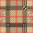 Checkered quilting design. — Stockvektor