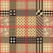 Stockvector : Checkered quilting design.
