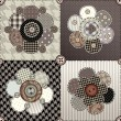 Flower quilting design — Stockvectorbeeld