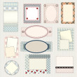 Stock vektor: Set of labels quilting design