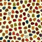 Polka dot ladybirds — Stock Vector