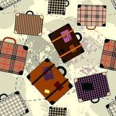 Suitcase cartoon pattern — Stock Vector