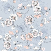 Seamless background pattern of blossom — Stock Vector