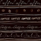 Kávu vzor — Stock vektor