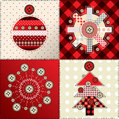 Christmas patchwork — Stock Vector