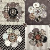 Blomma quiltning design — Stockvektor