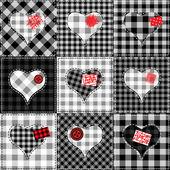 Coração de cerzir — Vetorial Stock
