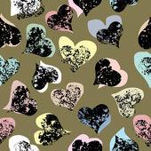 Grunge hearts — Stock Vector