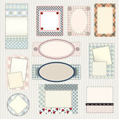 Set of labels quilting design — Stok Vektör