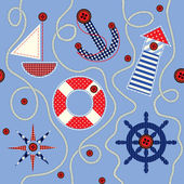 Nautical style pattern — Stock Vector