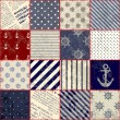 Quilting design in nautical style — Imagen vectorial